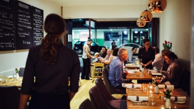 Neighbourly and welcoming: The cosy interior at Moxhe.