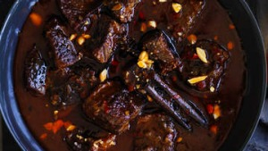 Cinnamon and chilli braised beef.