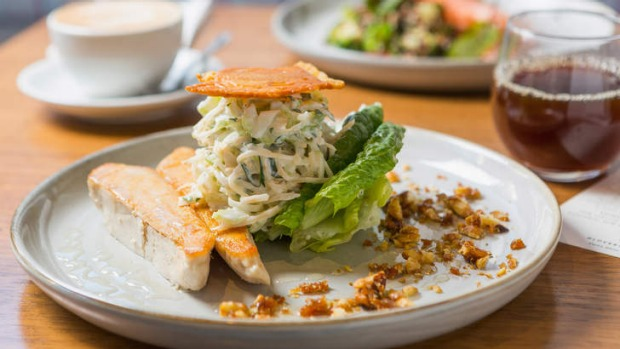 Elegant: Grilled chicken waldorf salad.