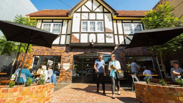 Mock-Tudor workshop: Glovers Station cafe in Elsternwick.
