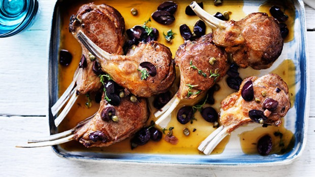 Marinade magic: roast lamb with olive, anchovy and caper sauce.