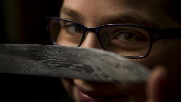 Knifemaker Leila Haddad, 12, handcrafts knives for some of Australia's top chefs.