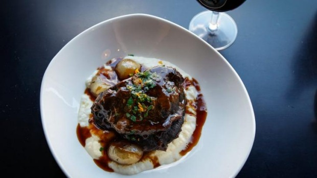 Cosy: Chianti braised beef cheeks at Italian and Sons.