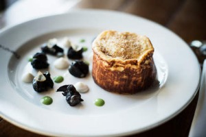 Souffle with snails at Donovans.