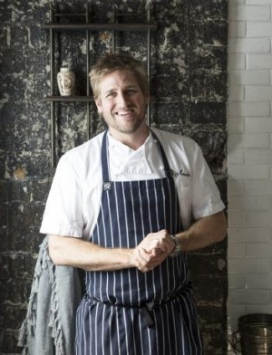 Curtis Stone at his restaurant, Maude, in Los Angeles.