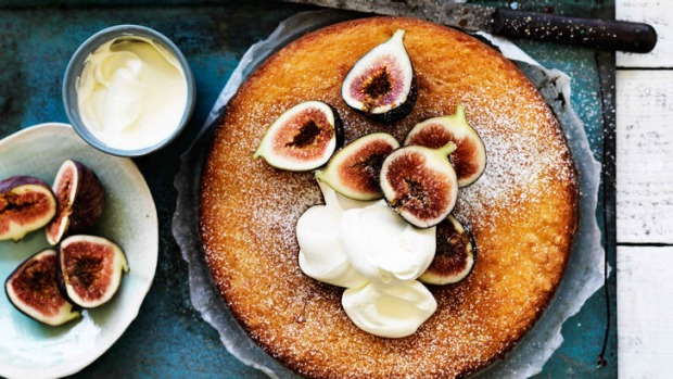 Fig and lemon yoghurt cake