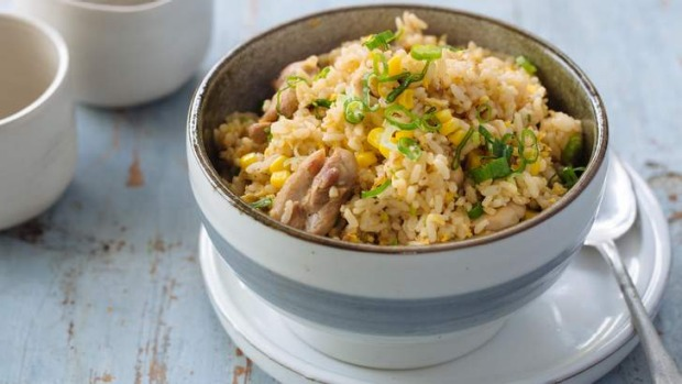 Chicken and corn fried rice recipe good food leftover rice make fried rice with chicken and corn ccuart Image collections