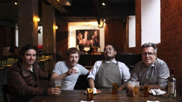 Vincent Fantauzzo (left), Robert Hargrave, Daniel Salcedo and Jonny Cortizo of Harley House Picanteria.