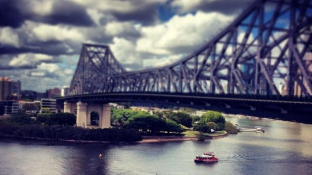 A one night transformation ... Brisbane's Story Bridge to become a food market.