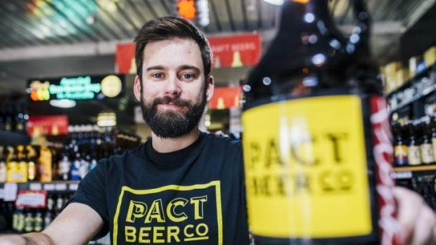 Success story: Canberra brewer Kevin Hingston is to launch his Pact Beer Company on June 4 at Transit Bar.