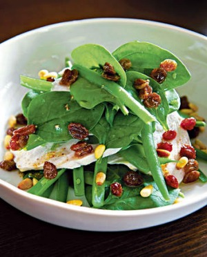 Warm Baby Spinach And Chicken Salad Recipe Good Food