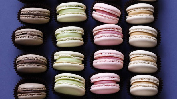 Adaptable: Macarons made using the Italian method.