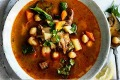 Spicy lamb and vegetable soup.