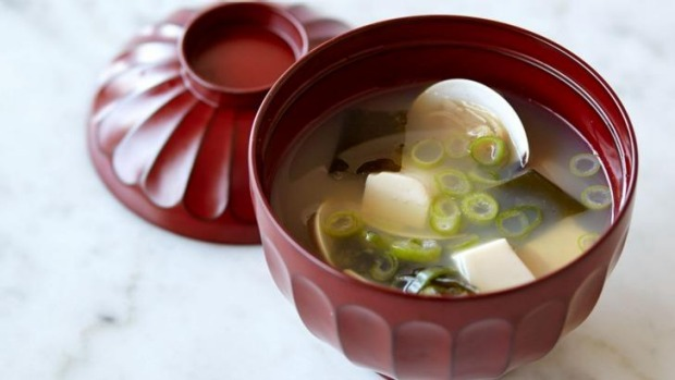 Chef Kato's miso soup with clams.