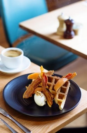 Waffles at Rudimentary in Footscray.