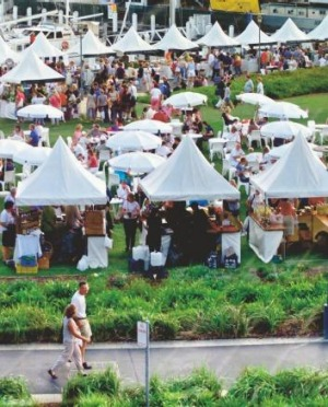The Sydney Morning Herald's Growers' Market at Pyrmont.
