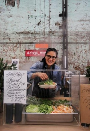 Kylie Kwong at Eveleigh Farmers' Market.