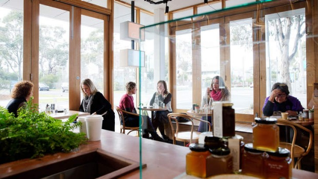 Playing it cool: the cafe interior is modern, but not cold.