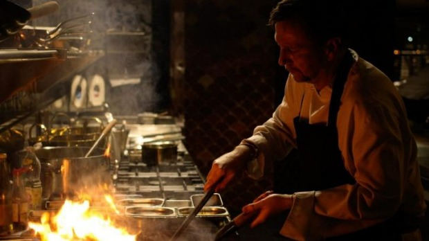 Working the wok: owner David Thompson.