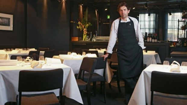 Chef Ben Shewry in the Attica dining room.