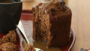 Sticky toffee pudding.