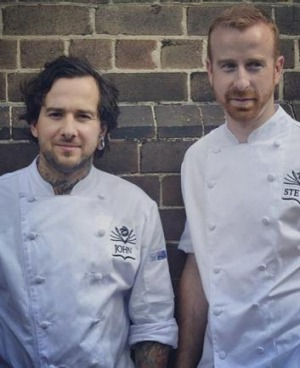 Pastry chefs John Ralley, left, and Steven Anderson.