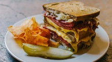 Mighty: the Reuben sandwich is big enough to share.