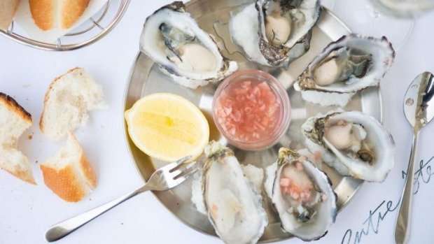 Shucked-to-order oysters are half price during happy hour (4-6pm daily) at Entrecote, South Yarra.