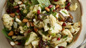Roast cauliflower salad with dates.