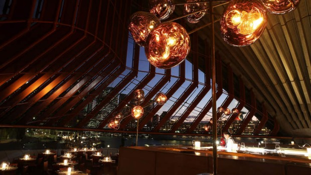 The restaurant, and its cuisine, are bathed in a golden glow.