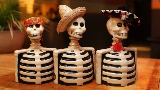 Tequila bottles come in all shapes and sizes (even skeletons).