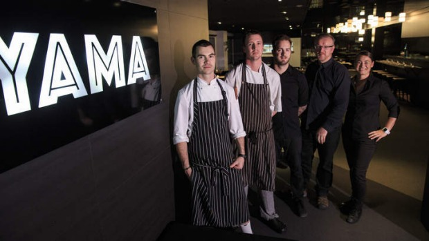 Dave Weston, Thomas Snowball, Dave McAvoy, Michael Ryan, Kellie McNamara from Yama Kitchen & Bar.