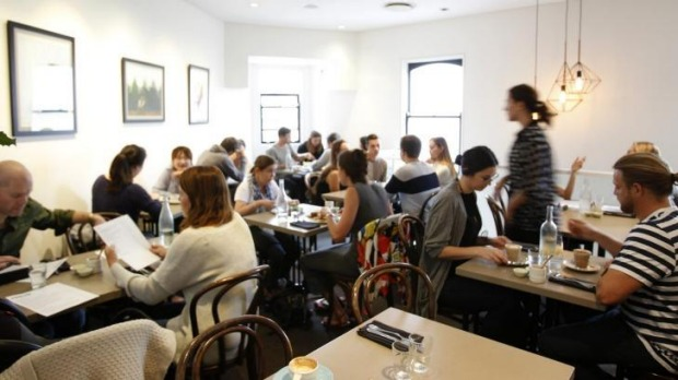 Sunday brunchers pack out the Pinbone dining room.