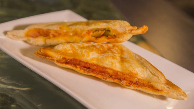 The kimchi and cheese jaffle from the snack menu.