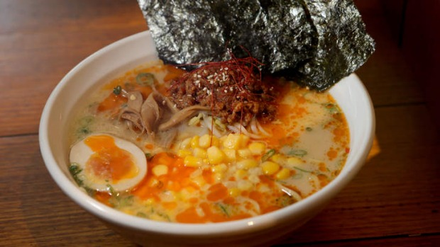 Tonkotsu gekikara ramen will fend off winter chills.