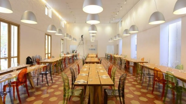 Uplifting and elegant: Refettorio Ambrosiano offers food for the homeless.