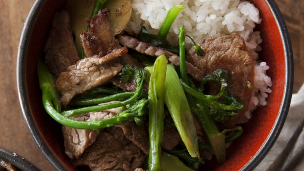 Thrifty cuts: Bavette stir-fry with broccolini.