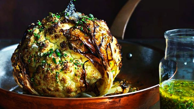 Showstopper ... the whole roasted cauliflower can be the vegetarian centrepiece of a roast dinner.