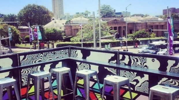 Sunny spot: Middlebar's balcony provides the perfect view for G&T sipping.