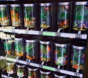 Healthy options ... The Füd Revolution vending machines serve up salads in air-tight recyclable jars.