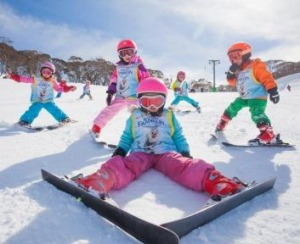 Fun in the snow at Thredbo.