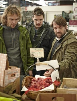 At the Prahan Market (from left) Thomas Frebel, Beau Clugston  and Rene Redzepi.