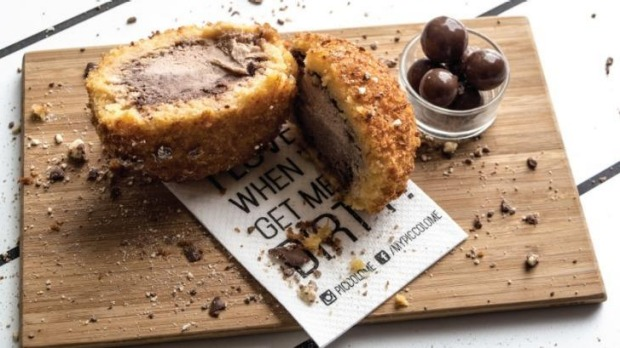 """Piccolo Me's fried ice-cream """"Maltella"""" is one of several items on the menu featuring Nutella."""