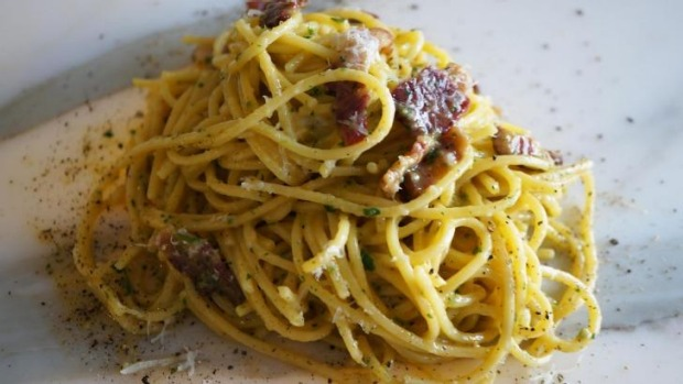 Egg yolks are what gives spaghetti carbonara its creaminess.
