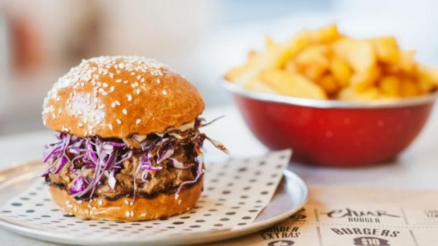 Come fly with me: Chur's pulled pork burger with red slaw and fennel mayo.