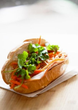 Nhu Lan's bargain barbecue pork bahn mi.