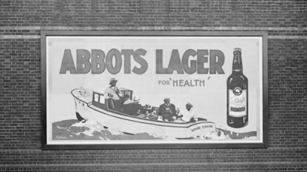 Abbots Lager was apparently for your 'health'.