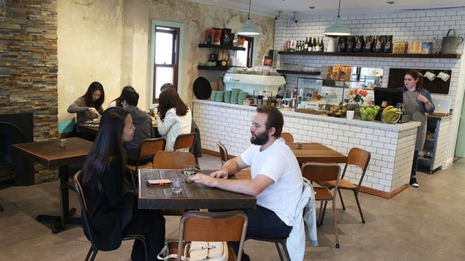 Oratnek cafe is set inside a converted terrace in Redfern.
