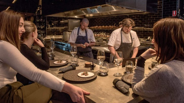 Ringside seats: the bar at Estelle by Scott Pickett.
