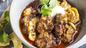 Great for leftovers ... Lamb shoulder curry with ginger and cauliflower.